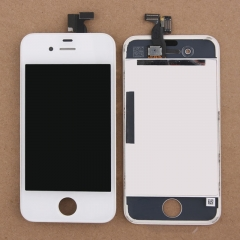 LCD Display + Screen Touch Digitizer + Frame Assembly For iPhone 4 4G White