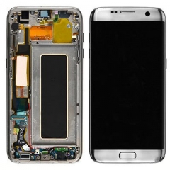 For Samsung Galaxy S7 Edge G935F LCD Display Touch Screen Digitizer Panel Glass Frame Assembly White