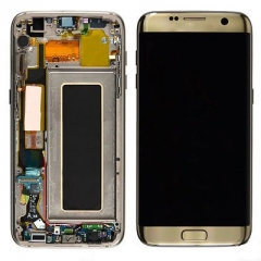 For Samsung Galaxy S7 Edge G935F LCD Display Touch Screen Digitizer Panel Glass Frame Assembly Gold