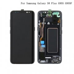 For Samsung Galaxy S8 Plus G955F LCD Display Touch Screen Digitizer Panel Glass Frame Assembly Black