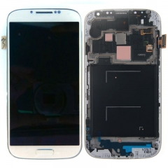 For Samsung Galaxy S4 SIV GT I9505 LCD Display Touch Screen Digitizer Panel Glass Frame Assembly White