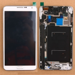 For Samsung Galaxy Note 3 N900A LCD Display Touch Screen Digitizer Panel Glass Frame Assembly White