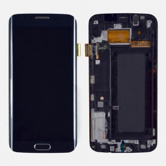 For Samsung Galaxy S6 Edge G925F LCD Display Touch Screen Digitizer Panel Glass Frame Assembly Black