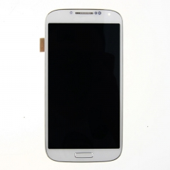 For Samsung Galaxy S4 SIV GT I545 L720 R970 LCD Display Touch Screen Digitizer Panel Glass Frame Assembly White