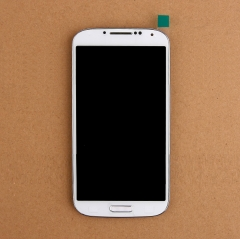 For Samsung Galaxy S4 SIV GT I337 M919 LCD Display Touch Screen Digitizer Panel Glass Frame Assembly White