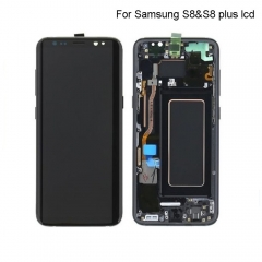 For Samsung Galaxy S8 G950F LCD Display Touch Screen Digitizer Panel Glass Frame Assembly Black