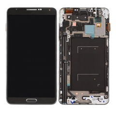 For Samsung Galaxy Note 3 N9005 LCD Display Touch Screen Digitizer Panel Glass Frame Assembly Black