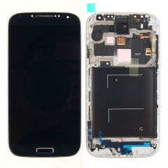 For Samsung Galaxy S4 SIV GT I337 M919 LCD Display Touch Screen Digitizer Panel Glass Frame Assembly Black