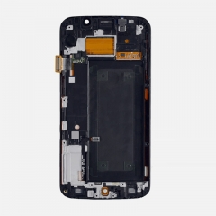 For Samsung Galaxy S6 Edge G925F LCD Display Touch Screen Digitizer Panel Glass Frame Assembly Gold