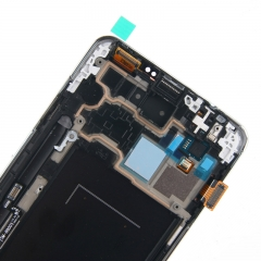 For Samsung Galaxy Note 3 N900 LCD Display Touch Screen Digitizer Panel Glass Frame Assembly White