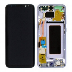 For Samsung Galaxy S8 G950F LCD Display Touch Screen Digitizer Panel Glass Frame Assembly Purple