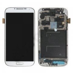 For Samsung Galaxy S4 SIV GT I9506 LCD Display Touch Screen Digitizer Panel Glass Frame Assembly White