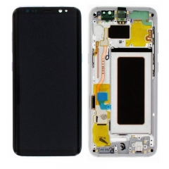 For Samsung Galaxy S8 G950F LCD Display Touch Screen Digitizer Panel Glass Frame Assembly Silver