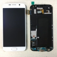 For Samsung Galaxy S6 G920F LCD Display Touch Screen Digitizer Panel Glass Frame Assembly White