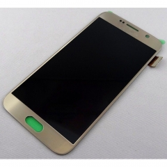 For Samsung Galaxy S6 G920F LCD Display Touch Screen Digitizer Panel Glass Frame Assembly Gold