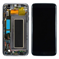 For Samsung Galaxy S7 Edge G935F LCD Display Touch Screen Digitizer Panel Glass Frame Assembly Black