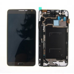 For Samsung Galaxy Note 3 N900 LCD Display Touch Screen Digitizer Panel Glass Frame Assembly Black