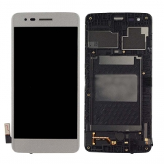 For LG K8 2017 M200 M200N MS210 LCD Display Touch Screen Digitizer Panel Glass Frame Assembly White