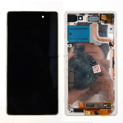 For Sony Xperia Z2 L50W D6502 D6503 D6543 LCD Display Touch Screen Digitizer Panel Glass Frame Assembly White