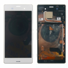 For Sony Xperia Z3 D6603 D6643 D6653 D6616 LCD Display Touch Screen Digitizer Panel Glass Frame Assembly White