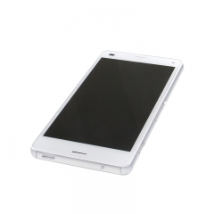 For Sony Xperia Z3 Compact Mini D5803 D5833 LCD Display Touch Screen Digitizer Panel Glass Frame Assembly White