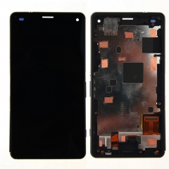 For Sony Xperia Z3 Compact Mini D5803 D5833 LCD Display Touch Screen Digitizer Panel Glass Frame Assembly Black