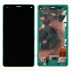 For Sony Xperia Z3 Compact Mini D5803 D5833 LCD Display Touch Screen Digitizer Panel Glass Frame Assembly Green