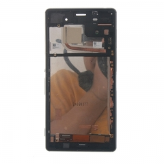 For Sony Xperia Z3 D6603 D6643 D6653 D6616 LCD Display Touch Screen Digitizer Panel Glass Frame Assembly Black