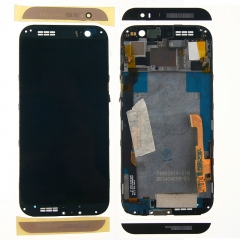 For HTC One M8 831C LCD Display Touch Screen Digitizer Panel Glass Frame Assembly Gold