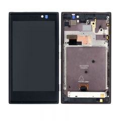For Nokia Lumia 925 LCD Display Touch Screen Digitizer Panel Glass Frame Assembly Black
