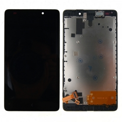 For Nokia Lumia 640 XL LCD Display Touch Screen Digitizer Panel Glass Frame Assembly Black