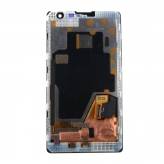 For Nokia Lumia 1020 LCD Display Touch Screen Digitizer Panel Glass Frame Assembly Black