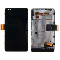 For Nokia Lumia 900 LCD Display Touch Screen Digitizer Panel Glass Frame Assembly Black