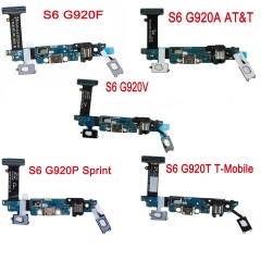 For Samsung Galaxy S6 G920A G920T G920P G920V G920F USB Charging Charger Port Flex Cable With Mic