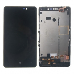 For Nokia Lumia 820 LCD Display Touch Screen Digitizer Panel Glass Frame Assembly Black