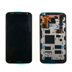 For Motorola Moto X2 XT1092 XT1095 XT1096 XT1097 LCD Display Touch Screen Digitizer Panel Glass Frame Assembly Black
