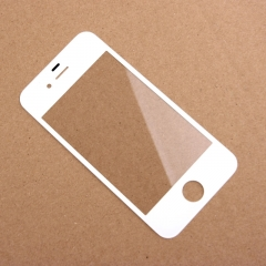 For iPhone 4G Front Outer Glass Lens Screen Cover White