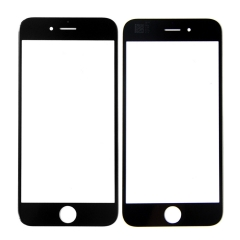 "For iPhone 6 6G 4.7"" Front Outer Glass Lens Screen Cover Black"