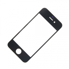 For iPhone 4G Front Outer Glass Lens Screen Cover Black