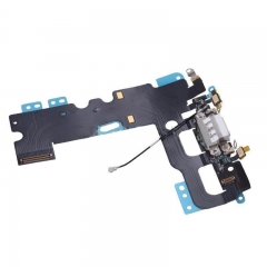For iPhone 7 4.7 USB Charging Port Jack Mic Headphone Charger Flex Cable White Black Gray