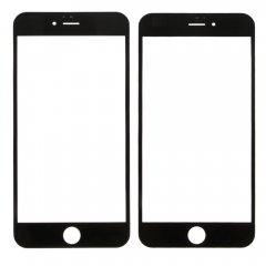 "For iPhone 6 Plus 5.5"" Front Outer Glass Lens Screen Cover Black"