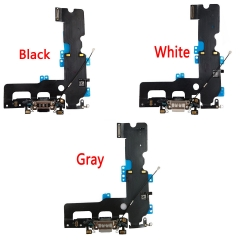 For iPhone 7 Plus 5.5 USB Charging Port Jack Mic Headphone Charger Flex Cable White Black Gray