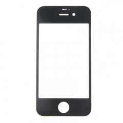 For iPhone 4S 4GS Front Outer Glass Lens Screen Cover Black