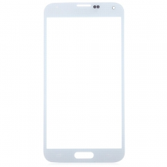 For Samsung Galaxy S5 i9600 G900R G900F G900H G900M G9001 Front Outer Glass Lens Screen Cover White