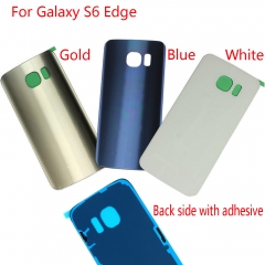 For Samsung Galaxy S6 Edge G925A G925T G925P G925V G925F Back Rear Glass Housing Battery Door Cover With Adhesive