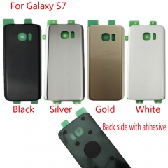 For Samsung Galaxy S7 G930A G930T G930P G930V G930F Back Rear Glass Housing Battery Door Cover With Adhesive
