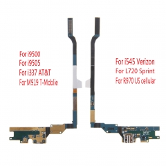 For Samsung Galaxy S4 i9500 i9505 i337 M919 i545 L720 R970 USB Charging Charger Port Flex Cable With Mic