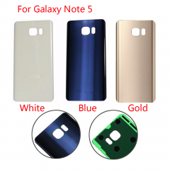 For Samsung Galaxy Note 5 N920A N920T N920P N920V N920F Back Rear Glass Housing Battery Door Cover With Adhesive