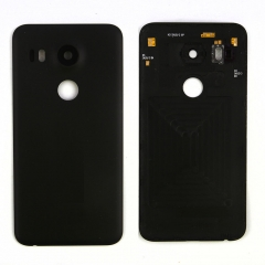 For LG Google Nexus 5X H790 H791 Back Rear Glass Battery Door Cover With Lens Glass Cover