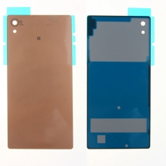 For Sony Xperia Z3+ Z3 Plus Z4 E6553 E6533 Back Rear Glass Housing Battery Door Cover With Adhesive